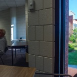 Beautiful outside, dull Georgia Tech classroom