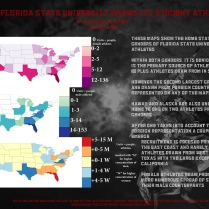 My final project in the GIS class: mapping the home states of FSU athletes