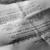 Typewritten note...just wonderful