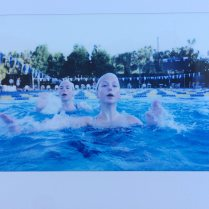 Treading water and holding the Instax