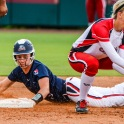 A member of the USSSA Pride slides safely into second base during a game in Tallahassee versus the Scrap Yard Dawgs