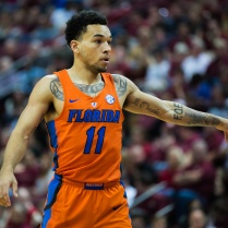 UF guard Chris Chiozza gestures to his teammates during their 2016 loss to FSU